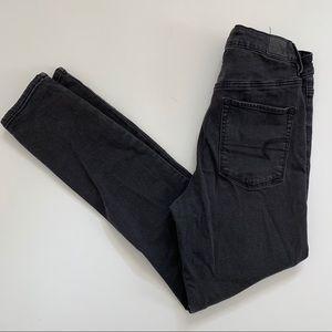 American Eagle Sky High Jegging Black Jeans 10